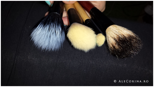 Clean brushes