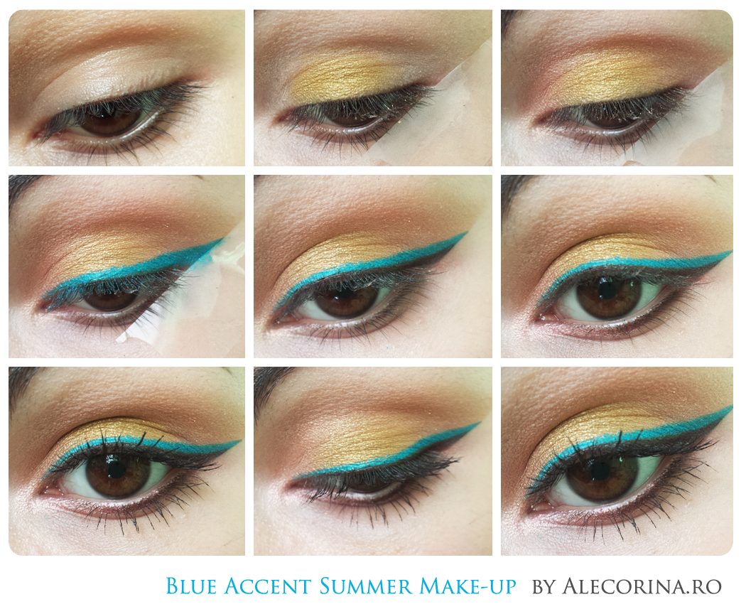Blue Summer Eyeliner Make-up Chart