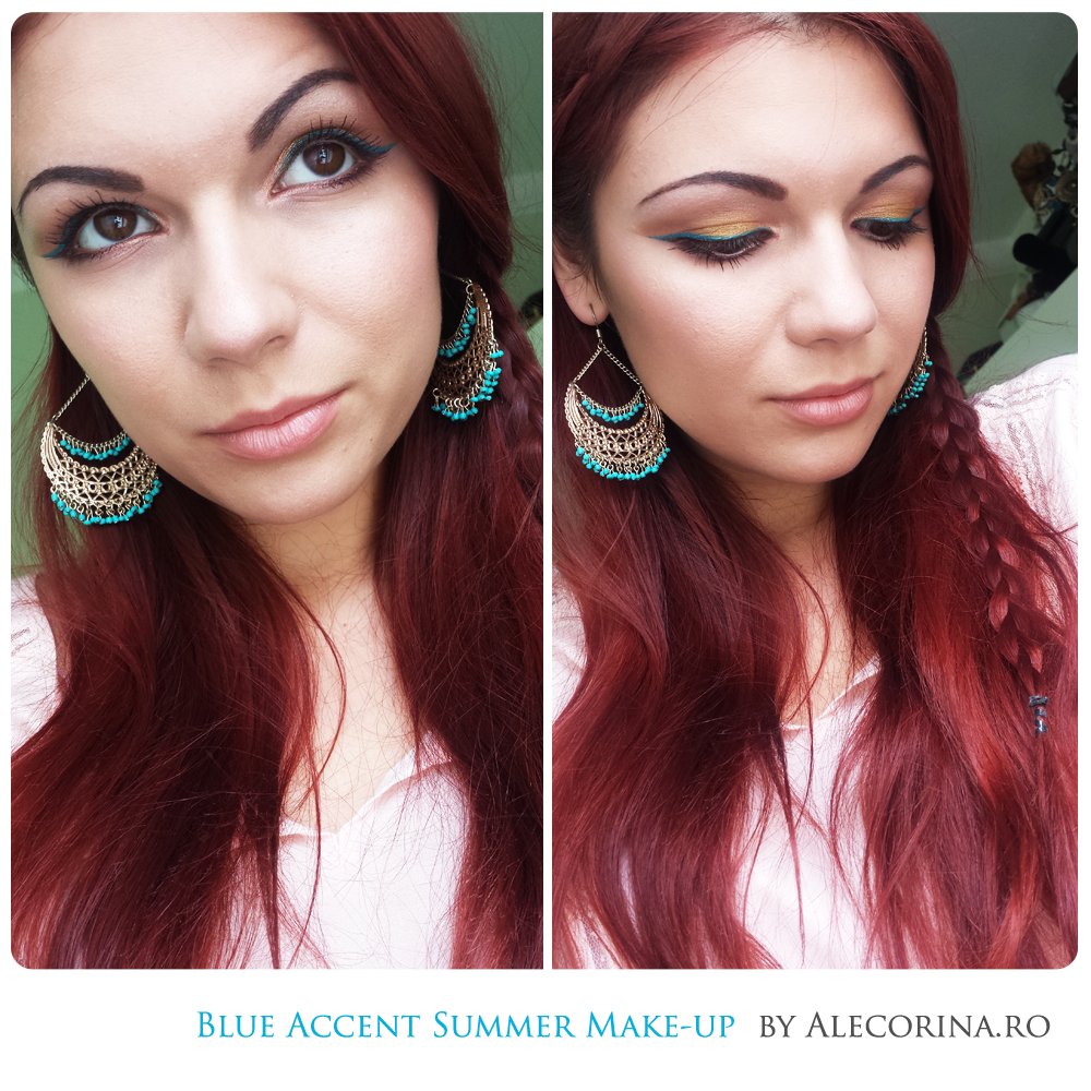 Blue Summer Eyeliner Make-up