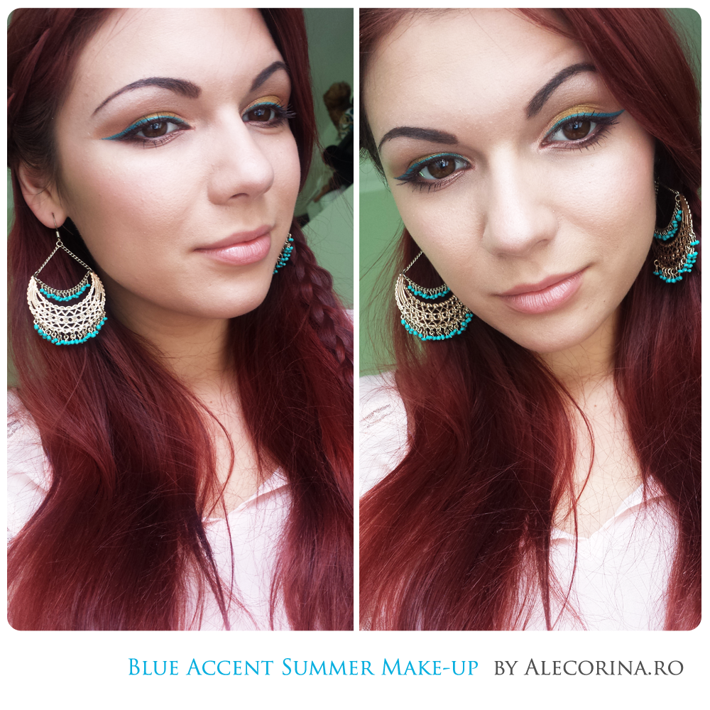 Blue Accent Summer Make up
