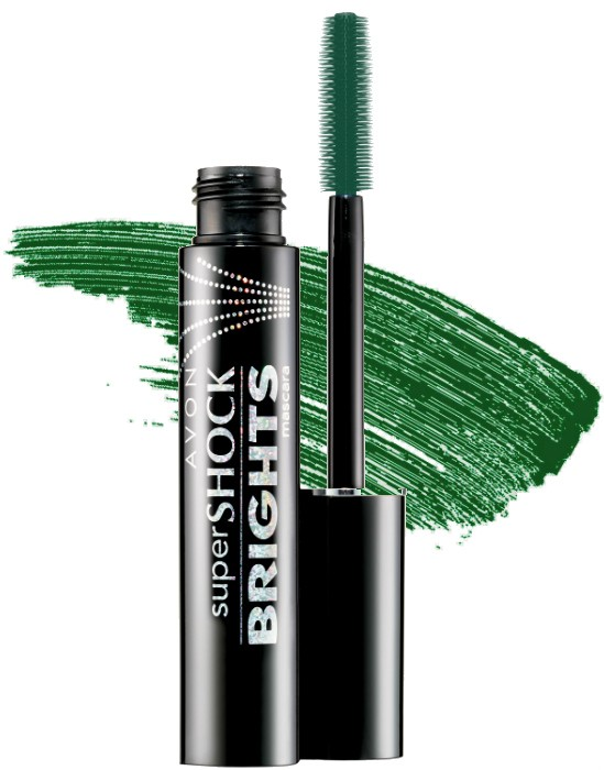 Avon Super Shock Bright Mascare - Emerald