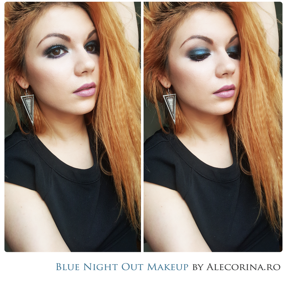 Blue Night Out Makeup Look Full Make-up