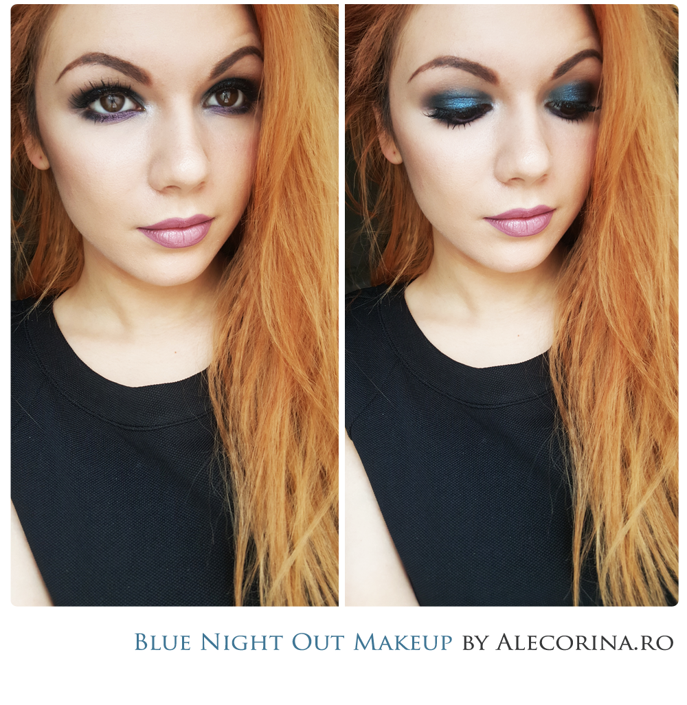 Blue Night Out Makeup Look Full Make Up