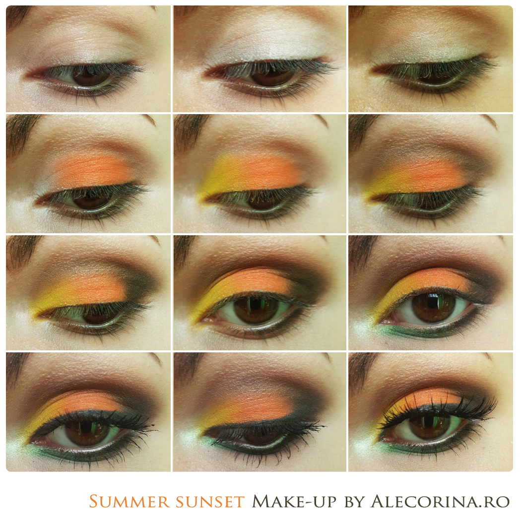 Summer Sunset Make-up Look Chart