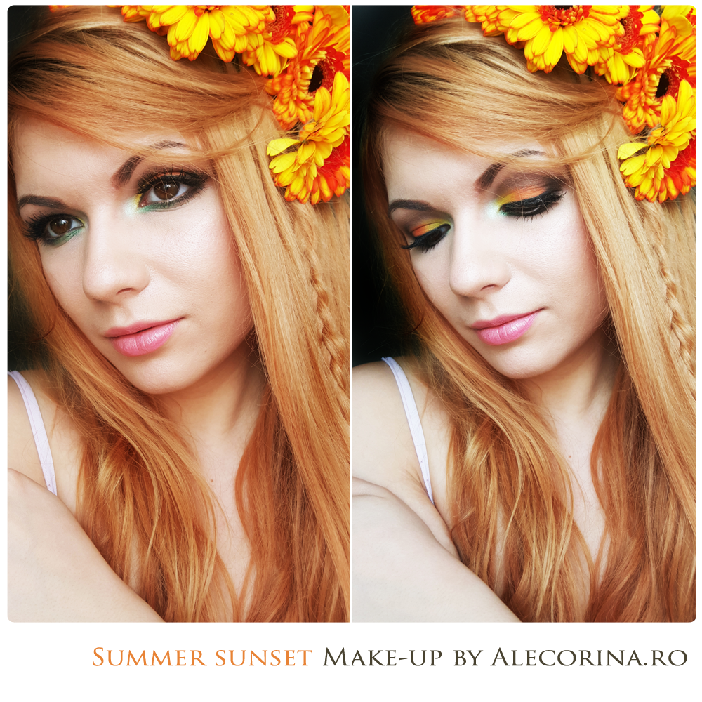 Summer Sunset Make-up Look Full Face