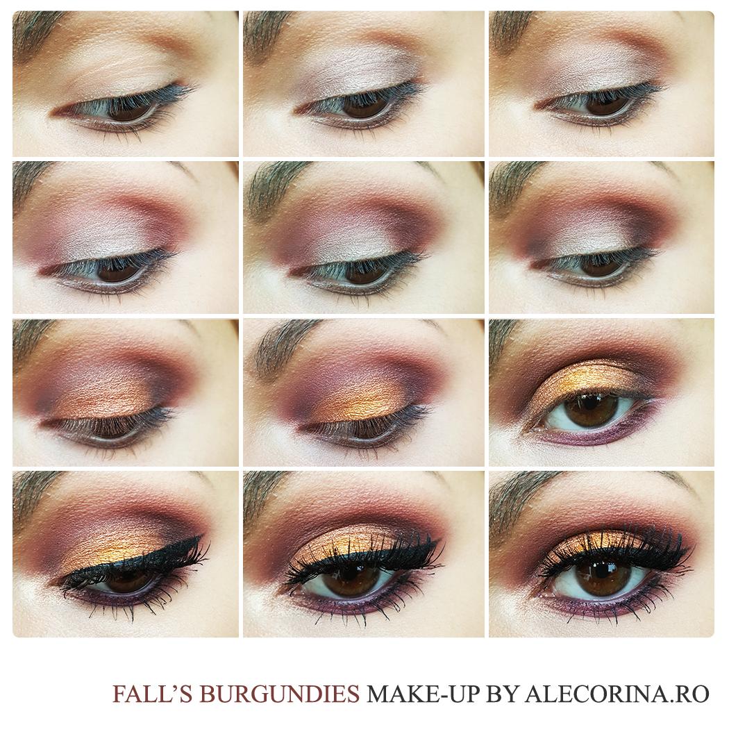 Fall's Burgundies Make-up Chart